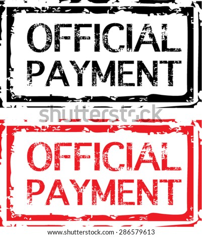 Official Payment Grunge Stamp Vector