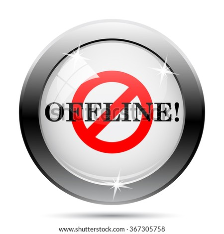 Offline icon. Internet button on white background. EPS10 vector.
