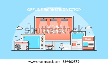 offline marketing for business branding tv advertising pamphlets telemarketing radio ads