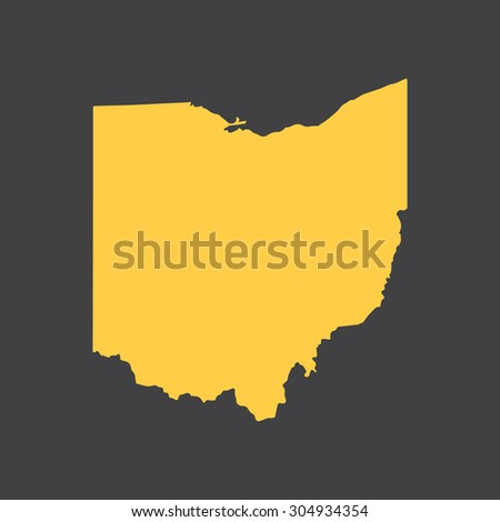 Ohio state border,map. Vector EPS8 - stock vector