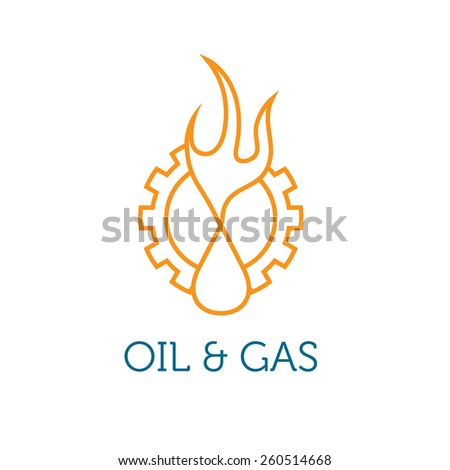 oil and gas industry illustration  - stock vector