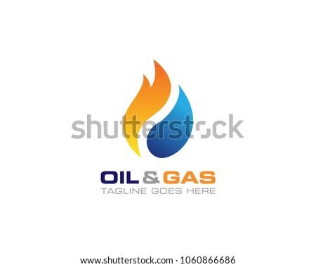 Oil Gas Logo Design Vector Template Stock Vector (Royalty Free ...