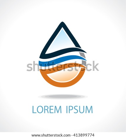 Oil and gas logo vector template. Oil and gas concept  design. - stock vector