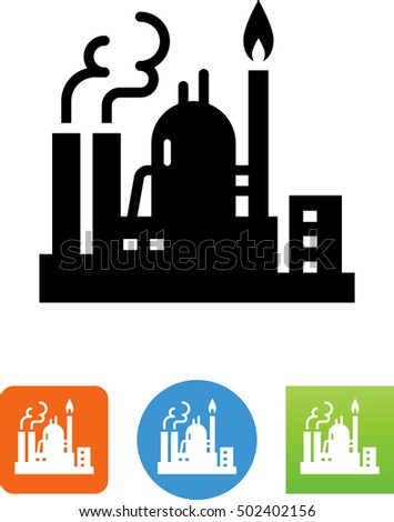 oil gas refinery icon factory industrial ��������������������