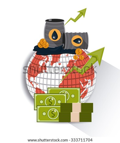 Oil and Petroleum concept with money icons designs, vector illustration eps 10