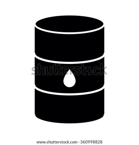 Oil barrel icon isolated on white background. Vector illustration
