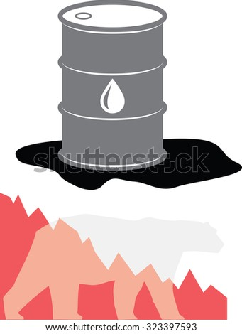 Oil Barrel Illustration (Bearish Market)