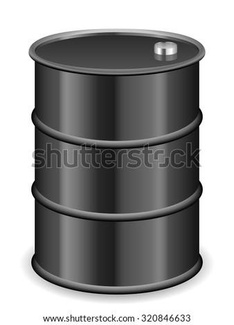 Oil barrel on a white background.