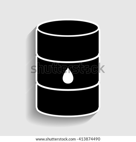 Oil barrel sign