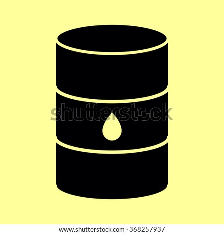 Oil barrel sign. Flat style icon vector illustration.