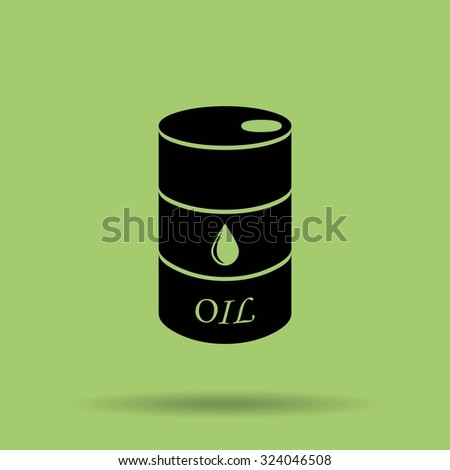 Oil barrel vector icon