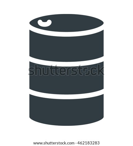 Oil Can Colored Vector Icon