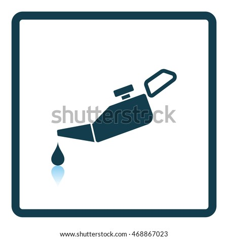 Oil canister icon. Shadow reflection design. Vector illustration.
