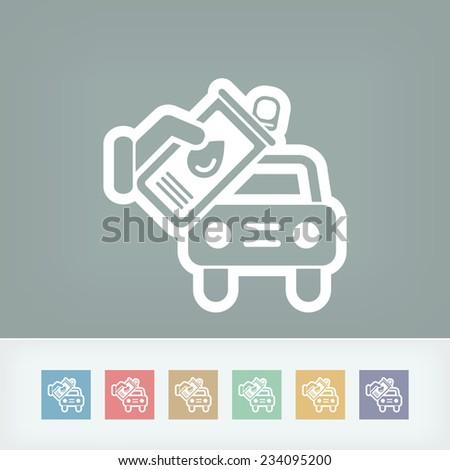 Oil car - stock vector