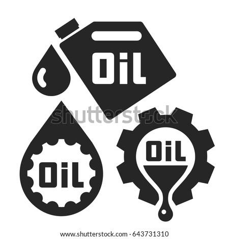 funnel lubricant gear motor oil logo stock vector
