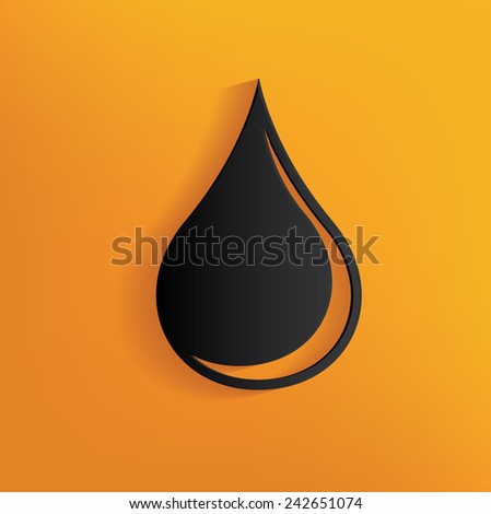 Oil design on yellow background,clean vector - stock vector