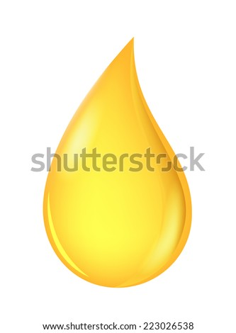 oil drop isolated on white background  - stock vector