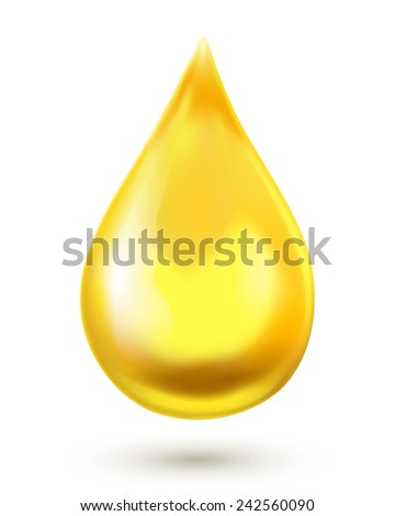 Oil drop isolated on white background. Vector illustration - stock vector