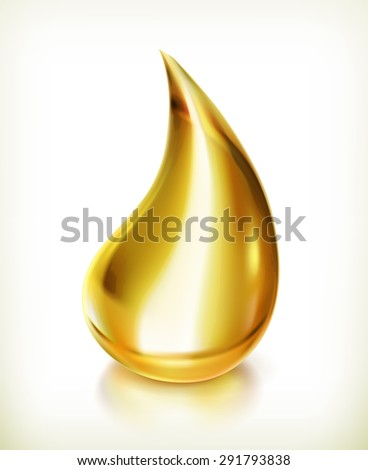 Oil drop, vector icon - stock vector