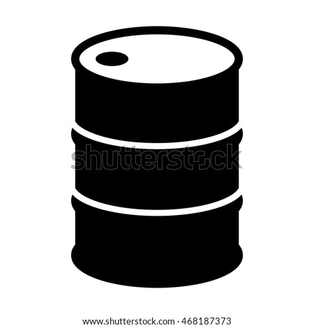 Oil drum container / barrel flat icon for apps and websites
