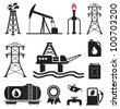 Oil, gas, electricity symbols - stock vector