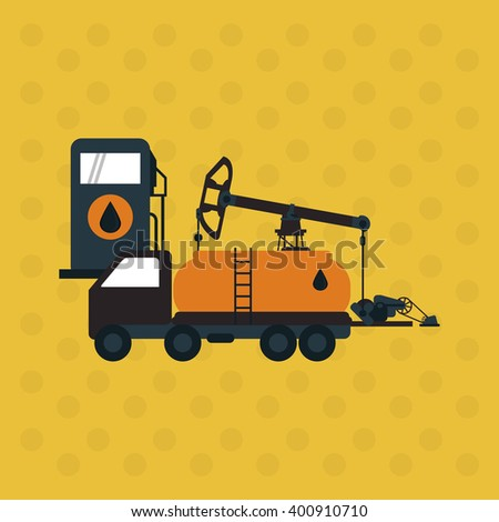 Oil industry and truck design, vector illustration