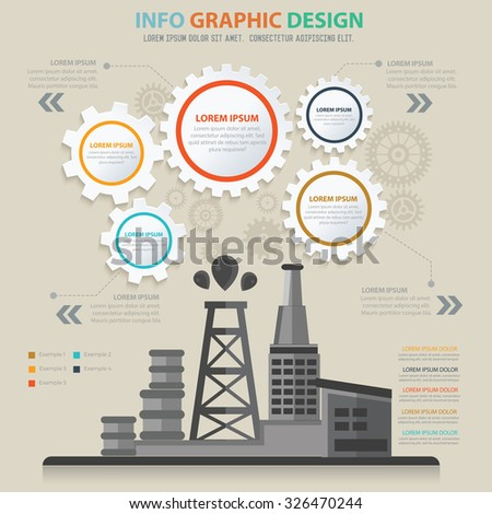 Oil industry design,info graphic concept,vector - stock vector
