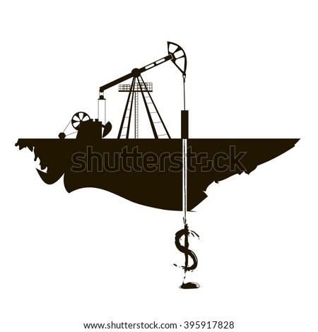 Oil industry icon  set symbol vector  illustration - stock vector