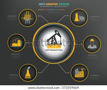 Oil,industry Infographics Design,clean vector - stock vector