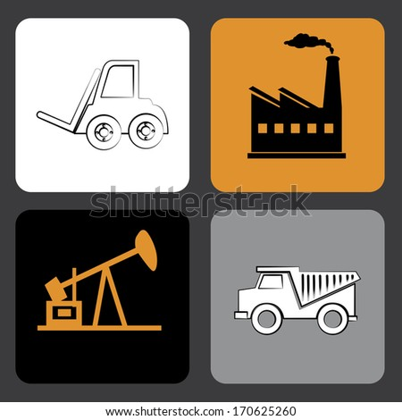 oil industry over gray background vector illustration