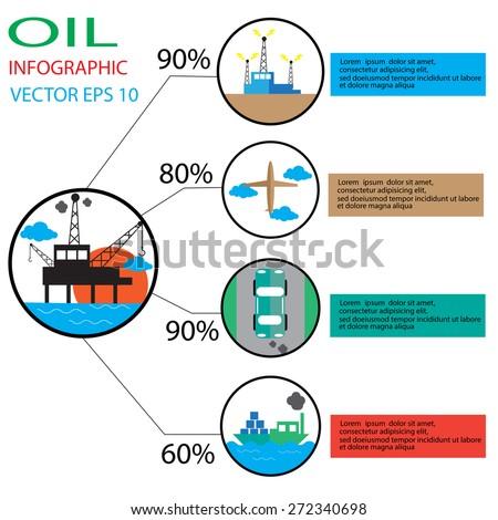 oil info graphic designs vector  - stock vector