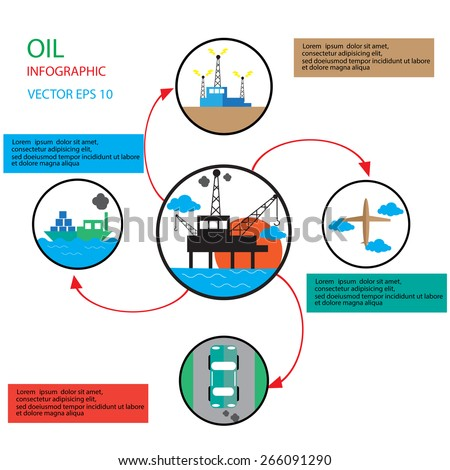 oil infographic vector   - stock vector