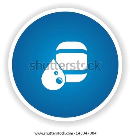 Oil or gas symbol,vector - stock vector