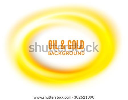 Oil or gold. Vector illustration on white background - stock vector