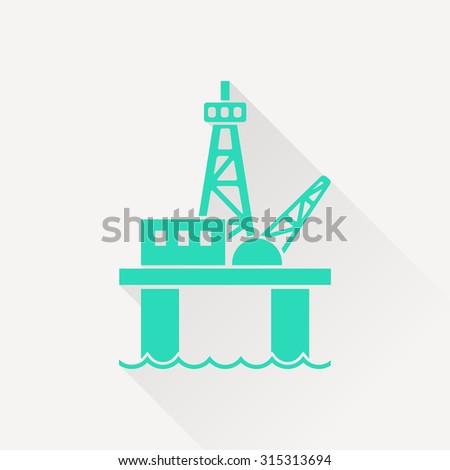 Oil platform icon - stock vector