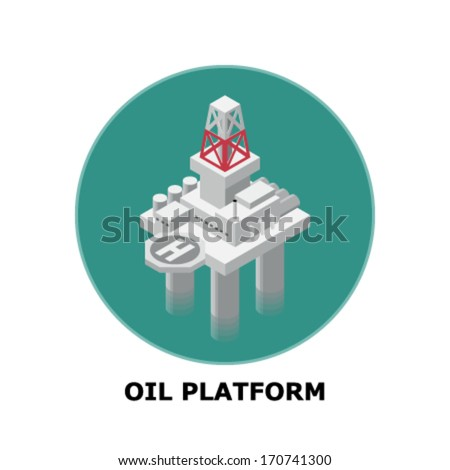 Oil Platform, Non-Renewable Energy Sources - Part 3 - stock vector