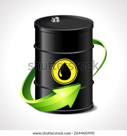 Oil price up - stock vector