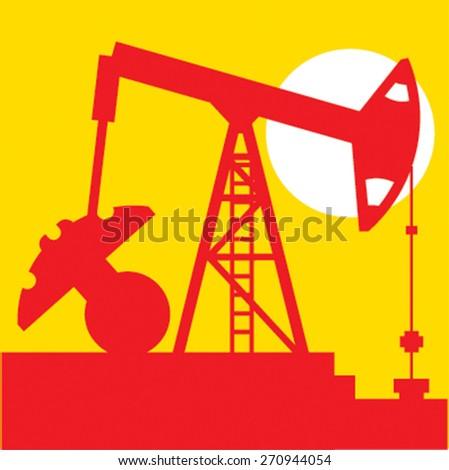 oil pump industry, vector illustration - stock vector
