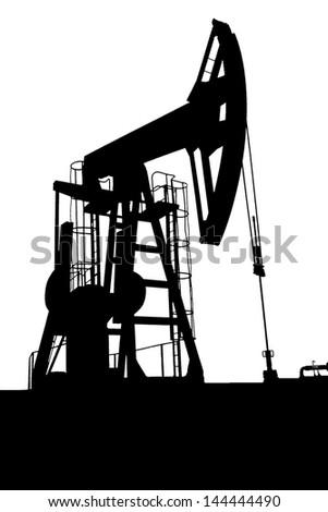 oil pump jack - stock vector
