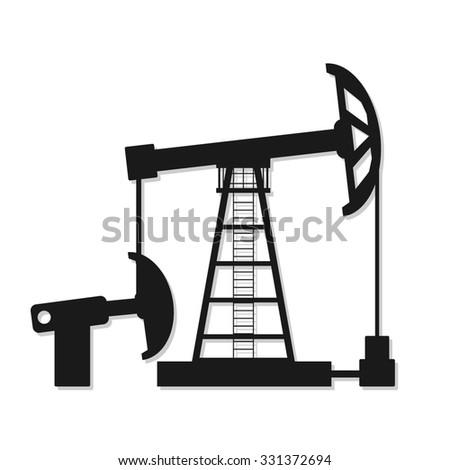 Oil Pump Silhouette - stock vector