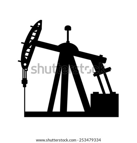 Oil pump vector - stock vector