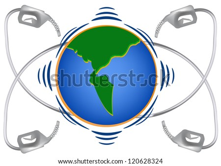 Oil rig in the world. - stock vector