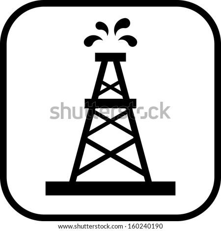 Oil rig vector icon  - stock vector