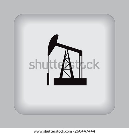 Oil, rig, vector, icon, flat, illustration - stock vector