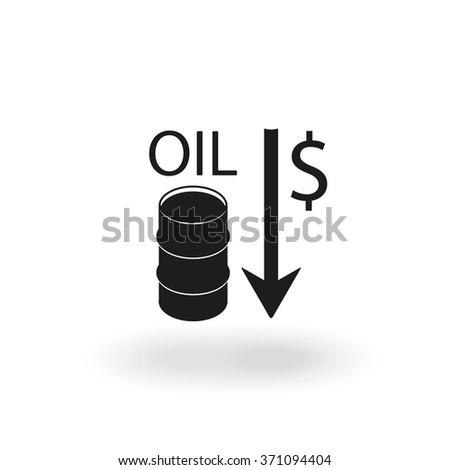 Oil stock crisis icon. - stock vector