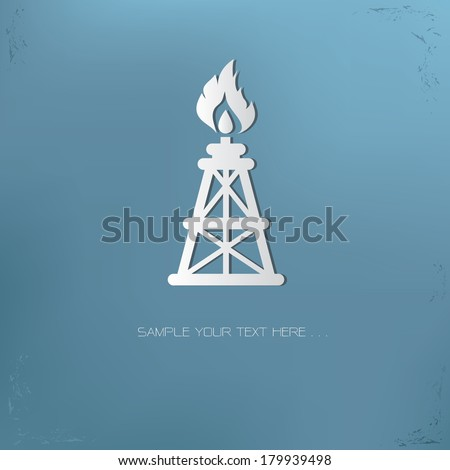 Oil symbol,vector - stock vector