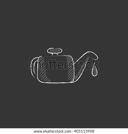 Oiler. Drawn in chalk icon. - stock vector