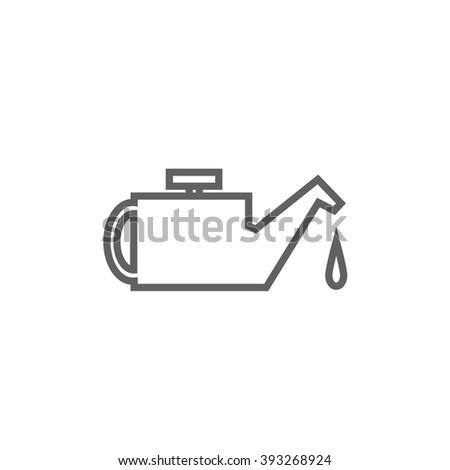 Oiler line icon. - stock vector