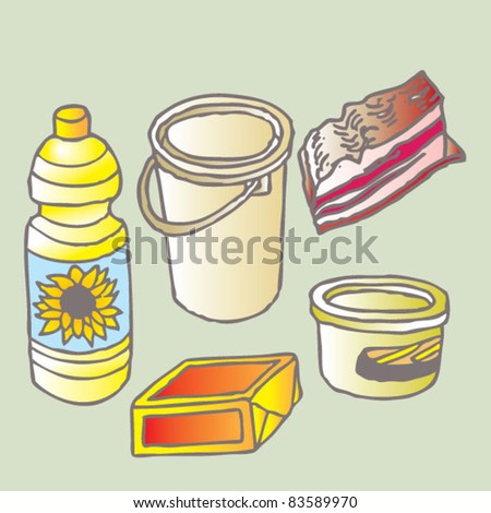 oils and fats isolated - stock vector