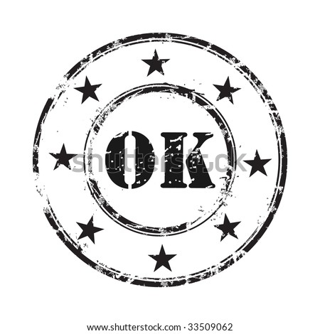 Ok abstract grunge rubber stamp background - stock vector